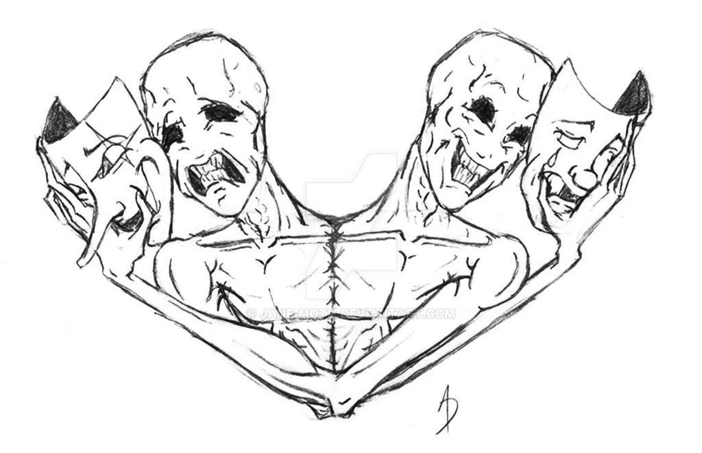 siamese masks tattoo by jane moth on deviantart. Black Bedroom Furniture Sets. Home Design Ideas
