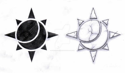 Random sun and moon designs