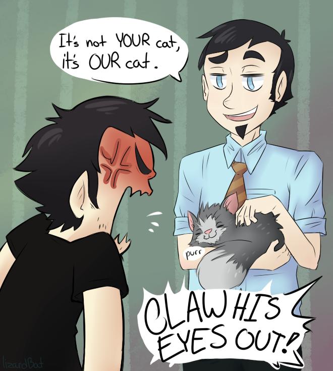 Our Cat by LizardBat