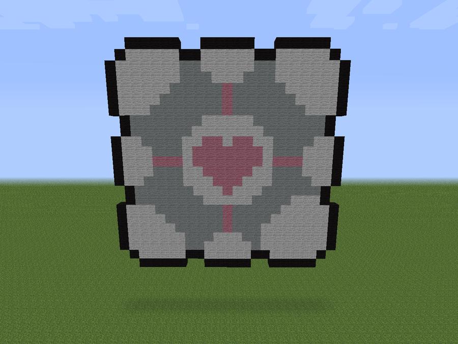 minecraft companion cube by exel erin on deviantart