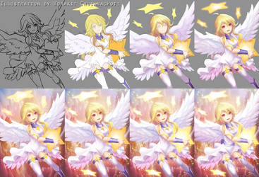 Star light angel step by StarbowNext