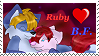 Ruby Loves BrandonFox Stamp by Experiment720