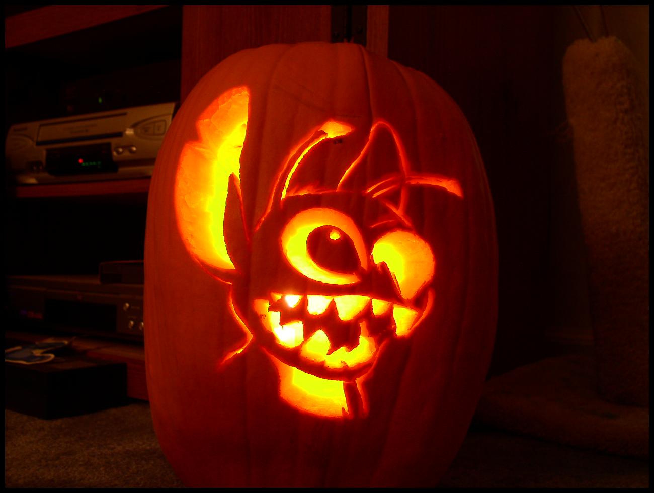 Stitch Pumpkin Carving - 5 Hrs by Experiment720 on DeviantArt