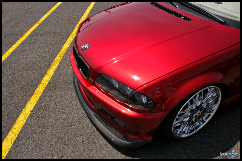 BMW E46 candy red by benrrrraRed Metallic Car Paint