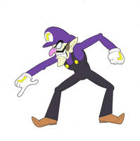 Waluigi Pose 1 by TheAnimationGod