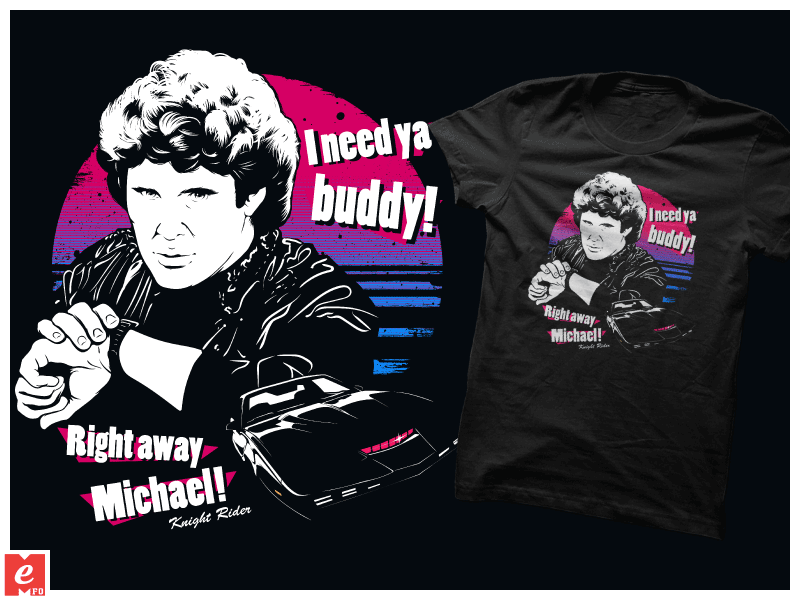 KIT Knight-Rider Michael-Knight quote T-Shirt cool by MrMeFO on