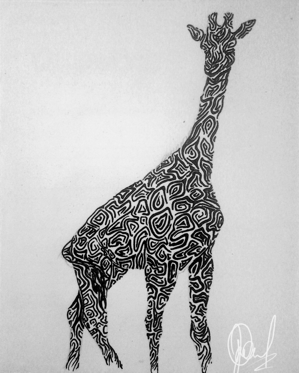 tribal giraffe design by tandenfee on deviantart