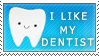 I Like My Dentist Stamp by Tandenfee