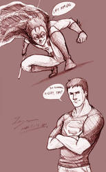 Robin and Superboy by tryvor