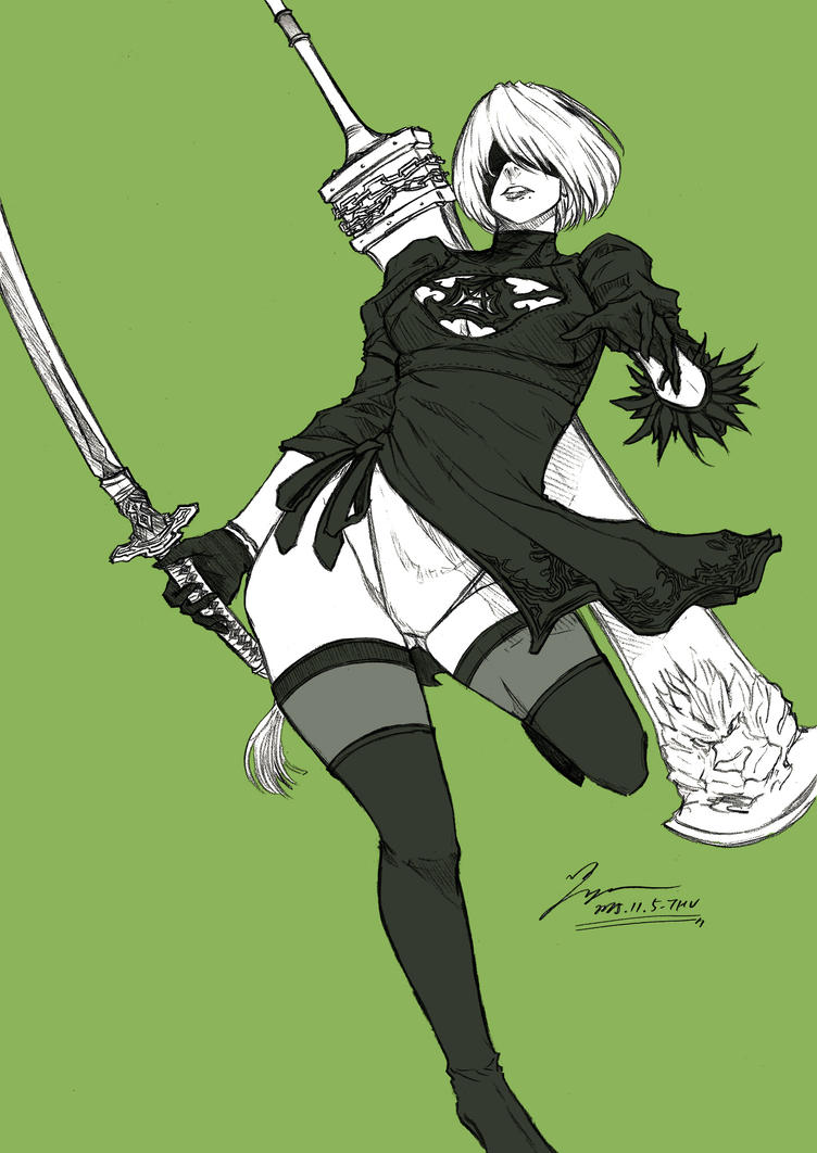 NieR Automata by tryvor