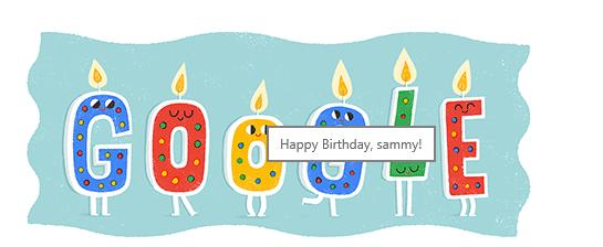 Google birthday message 2017 by burningdiotoir