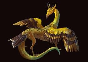 Siskin dragon by DragoNicaArt