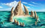 Dragon teeth island