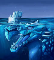 Iceberg monster by DragoNicaArt