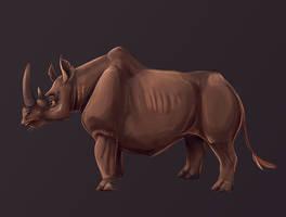 Rhino by DragoNicaArt