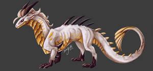 Golden Guard as a dragon - Hunter FanArt by DragoNicaArt