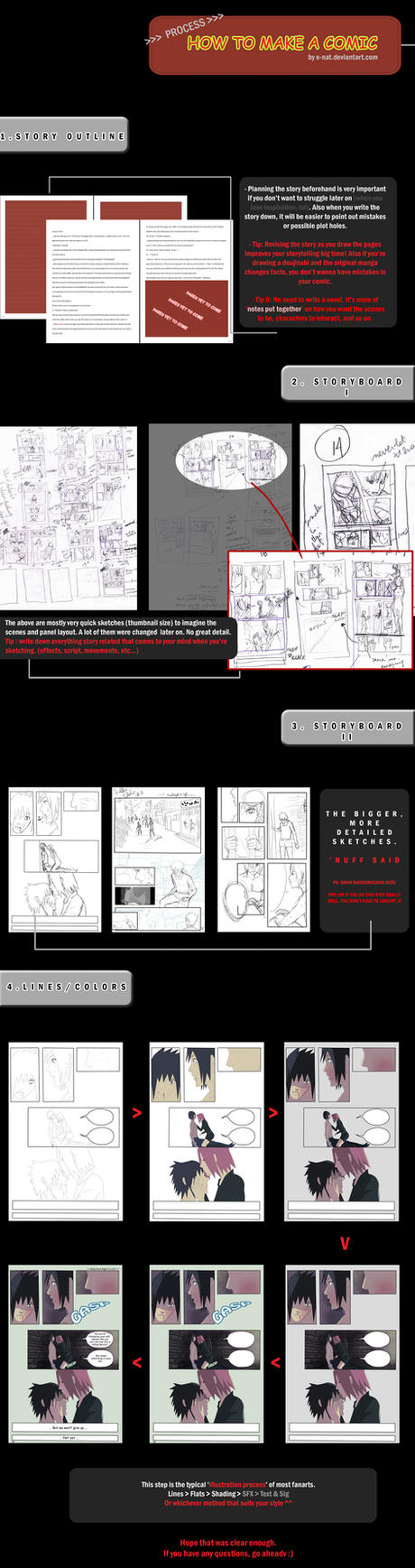 Process- Making a Comic by e-nat