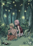 naruXsaku : magic woods