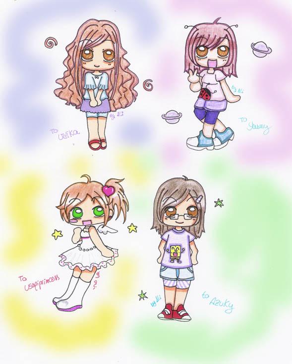 chibis by aliza-chan