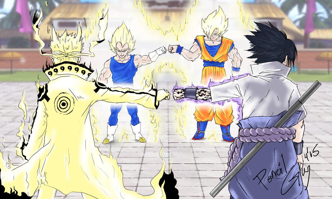 Naruto vs DBZ by PenclGuy