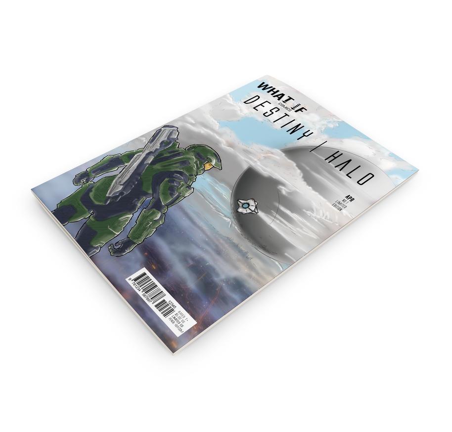 Destiny Meets Halo What If Comics Cover 3D by PenclGuy