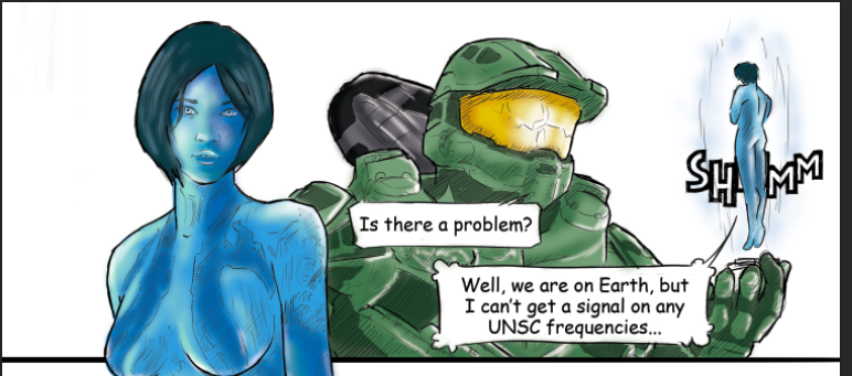 Destiny meets Halo comic screenshot by PenclGuy