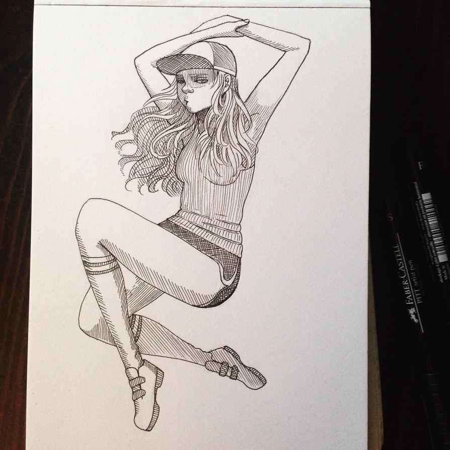 baseball girl by MissJuli
