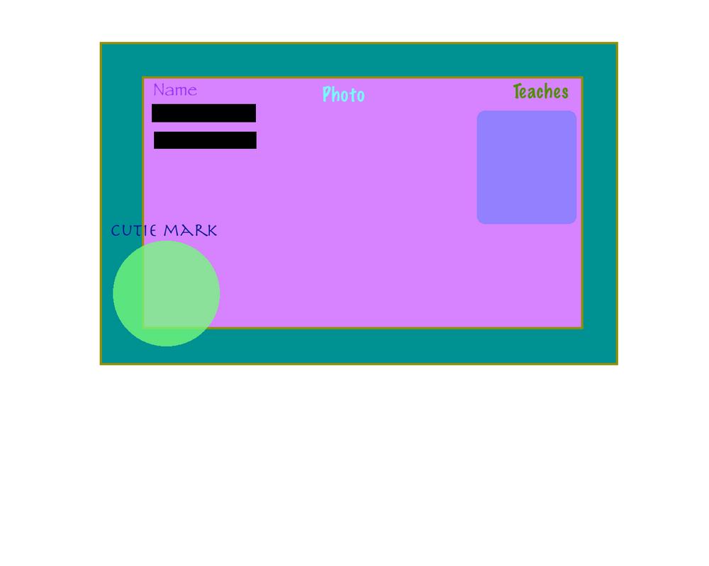 Celestia high teacher id card template by minecraftlover45 for Teacher id card template