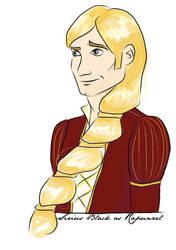 Sirius Black as Rapunzel by periru3