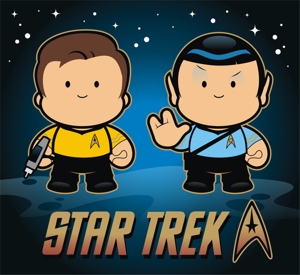 Star Trek Captain Kirk cartoon production cell drawing ... |Drawing Cute Cartoon Star Trek Kirk
