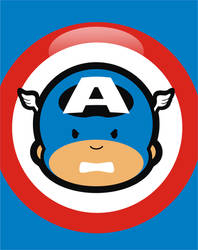 Captain America Cutie by brant5studios