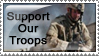 Support Our Troops Stamp by WillFactorMedia