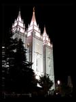 Salt Lake Temple Night Lights