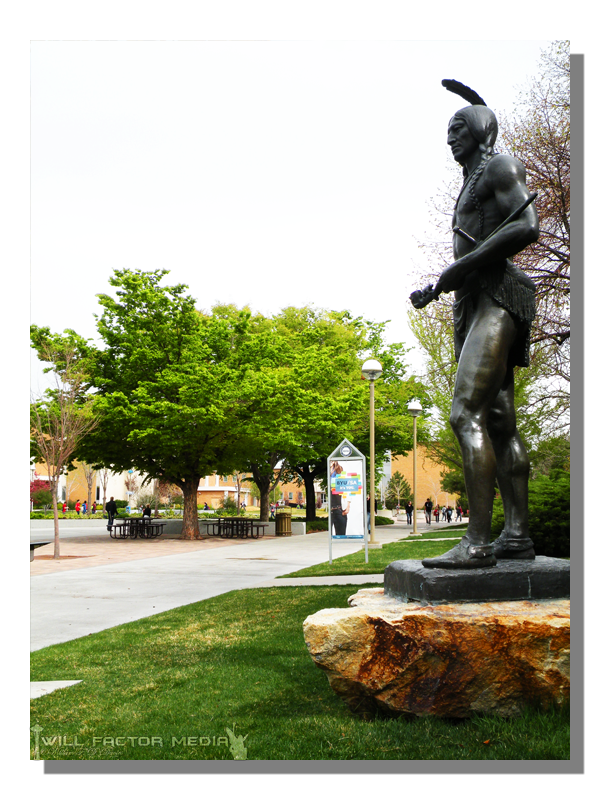 Chief Yellow Feather Massasoit Statue At Byu By