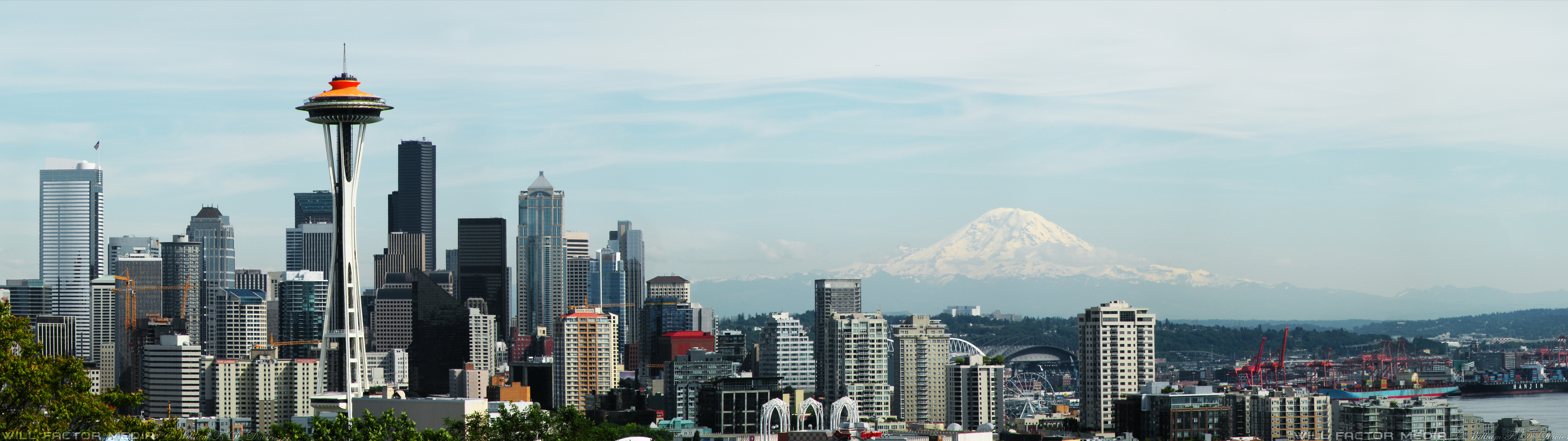 Dual Monitor 3840x1080 Seattle Wallpaper By