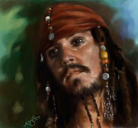 captain jack sparrow. by furafura