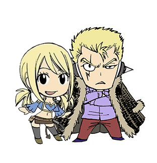 Laxus x Lucy , Collage by Tominea