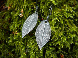 Elven Leaf -Fine Silver Earrings by QuintessentialArts