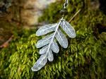 Silver Woodland Licorice Fern, Green Tourmaline
