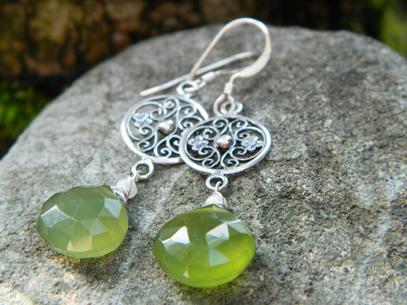 In the Garden -Leaf Green Chalcedony~ by QuintessentialArts