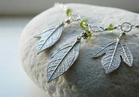 Custom Sassafras Necklace with Peridot by QuintessentialArts