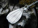 White Petal Fine Silver Pendant