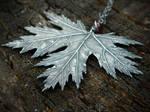 Dark Faerie Maple Leaf Pendant~