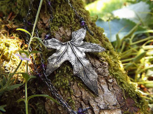 Bryony - Elven Leaf Amethyst Necklace
