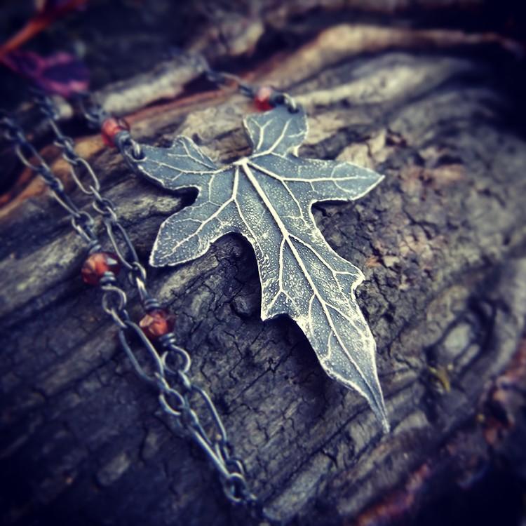 Elven Garnet Necklace by QuintessentialArts