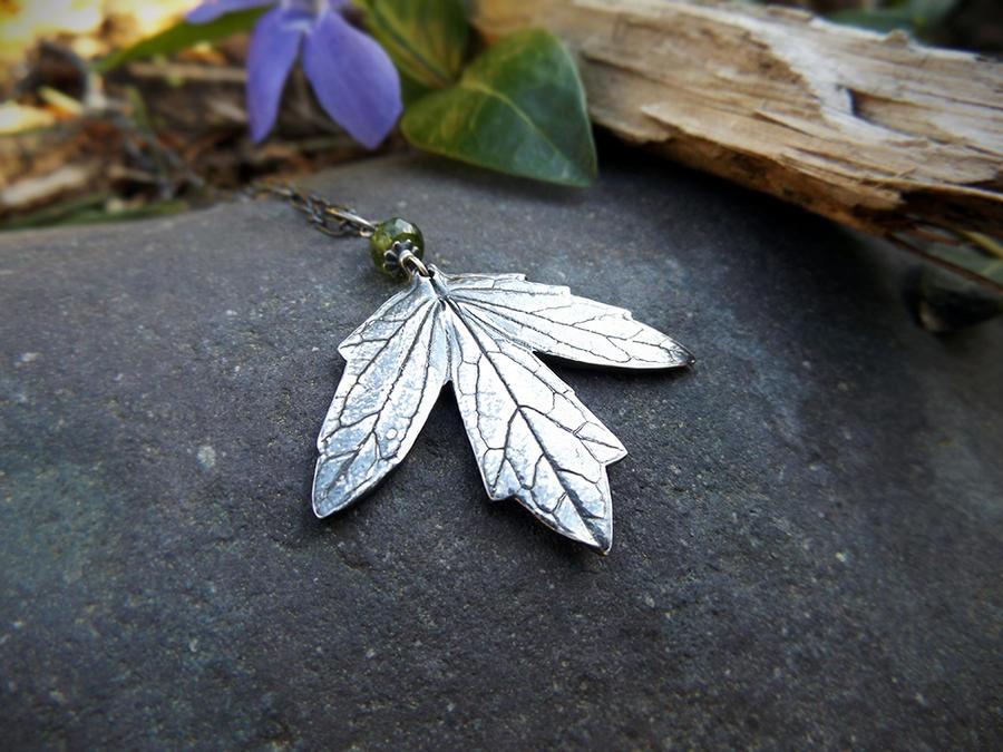 Valeriana officinalis - Valerian Leaf Pendant by QuintessentialArts