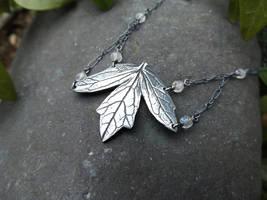Valeriana officinalis -Valerian Necklace Moonstone by QuintessentialArts