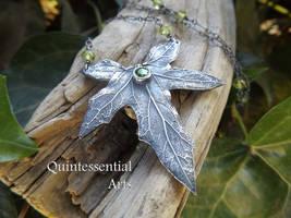 Bryonia, Bryony Peridot, Emerald CZ - Fine Silver by QuintessentialArts
