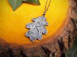 Viking Rune - Raido - Quercus Oak Leaf - Handmade