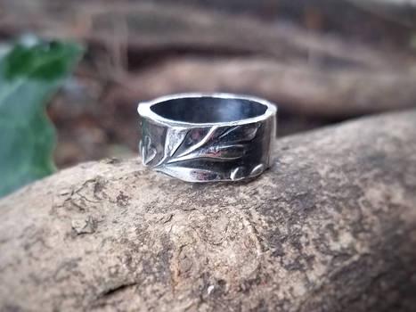 Ruta graveolens - Rue - Handmade Fine Silver Ring